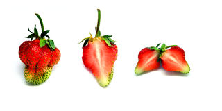 Whole and half  strawberry Stock Photography