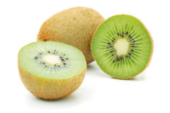 Whole and halves kiwi Royalty Free Stock Photography