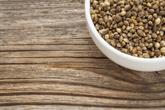 Whole hemp seeds Royalty Free Stock Photos