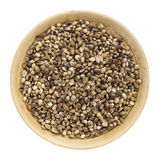 Whole hemp seeds Stock Images