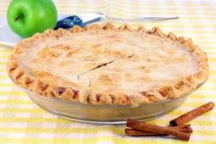 Whole Homemade Apple Pie Stock Photo