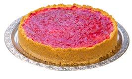 Whole homemade raspberry cheesecake