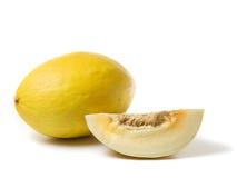 Whole honeydew melon and slice Stock Photos