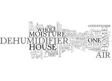 Whole House Dehumidifiers Word Cloud Royalty Free Stock Image