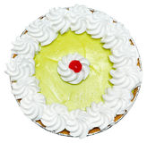 Whole Keylime Pie with Cherry on Top Stock Images