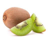 Whole kiwi fruit and his segments Royalty Free Stock Photo