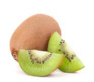 Whole kiwi fruit and his segments Stock Image