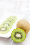 Whole kiwi fruit Royalty Free Stock Photography
