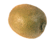 Whole Kiwi Isolated on a White Background Stock Photos