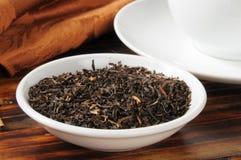 Whole leaf black tea Royalty Free Stock Photo