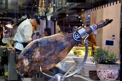 A whole leg of Jamon Royalty Free Stock Photo