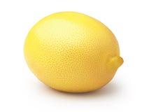 Whole lemon on white royalty free stock image