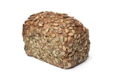 Whole loaf of Pumpkin seed bread Stock Image