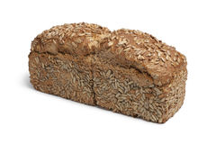 Loaf of spelt bread with sunflower seeds Stock Images