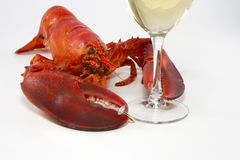 Romantic Lobster Dinner Stock Photography