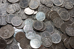 Whole lot of old silver coins Stock Image