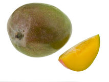 Whole mango and slice Stock Photography