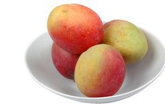 Whole mangoes on bowl 3 Royalty Free Stock Photography