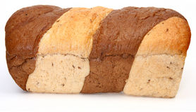 Whole Marble Rye Loaf Stock Image