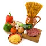 Whole meal spaghetti Stock Photo