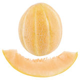 A whole melon and a piece of sliced melon Royalty Free Stock Photography