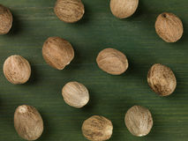 Whole Nutmeg Cooking Spice Stock Photography