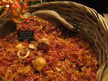 Whole nutmeg pods Royalty Free Stock Images