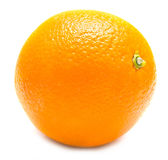 Whole orange. The ripe whole orange on white, shallow DOF. Isolation Stock Images