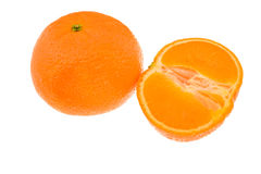 Whole Orange And Half Orange Royalty Free Stock Photography