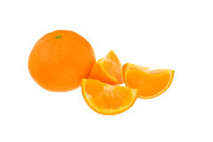 Whole orange plus segments Stock Image