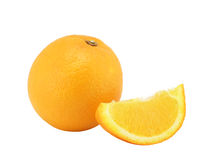 The whole orange and segme Stock Image