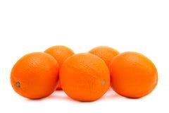 Whole Oranges On A White Background Stock Image