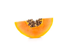 Whole papaya fruits on white background Royalty Free Stock Photography