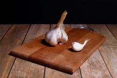 Whole and part. Garlic segment this whole and part Stock Photo