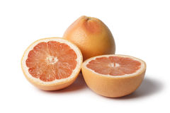 Whole and partial grapefruit Stock Images