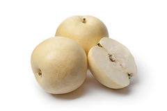 Whole and partial Nashi pear Stock Photo