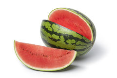 Whole and partial water melon. On white background Stock Photography