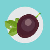 Whole passion fruit flat design vector Stock Image