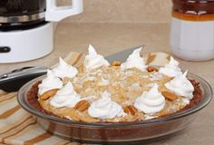 Whole Peanut Butter Pie Royalty Free Stock Image