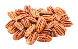 Whole pecan nuts Stock Images