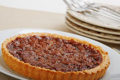 Whole pecan pie Stock Photos