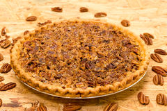 Whole Pecan Pie Royalty Free Stock Photography