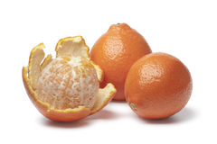 Whole and peeled Tangelo Stock Image