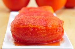 Whole peeled tomatoes Royalty Free Stock Photos