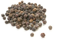 Whole peppercorn scattering on white Royalty Free Stock Images