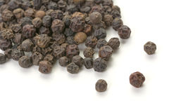 Whole peppercorn scattering Stock Photography