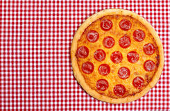 Whole Pepperoni Pizza Royalty Free Stock Images