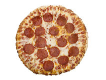 Whole Pepperoni Pizza Royalty Free Stock Photography