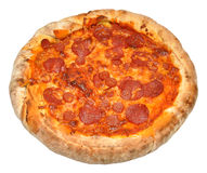 A Whole Pepperoni Pizza Stock Photos
