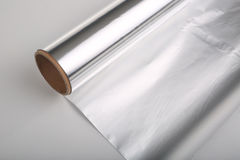 A whole piece of foil. Silver paper Royalty Free Stock Photo